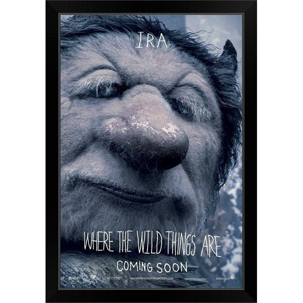"""Where the Wild Things Are - Movie Poster - UK"" Black Framed Print"