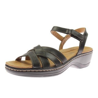Clarks Womens Hayla Pier Dress Sandals Leather Strappy - 9.5 narrow (aa,n)
