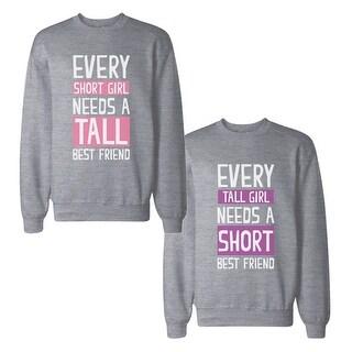 Every Tall And Short BF BFF Sweatshirts Cute Matching Sweat Shirts