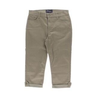 NYDJ Womens Petites Capri Jeans Denim Cuffed - 10P
