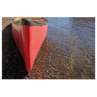 """A canoe waits"" Poster Print"