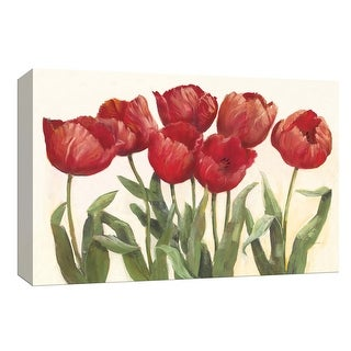"PTM Images 9-153604  PTM Canvas Collection 8"" x 10"" - ""Ruby Tulips"" Giclee Flowers Art Print on Canvas"