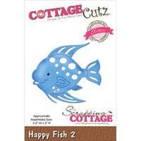 "Happy Fish #2; 2.2""X2"" - Cottagecutz Elites Die"