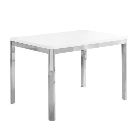 """Offex Dining Table - 32"""" x 48"""" White/Chrome Metal - Not Available"""