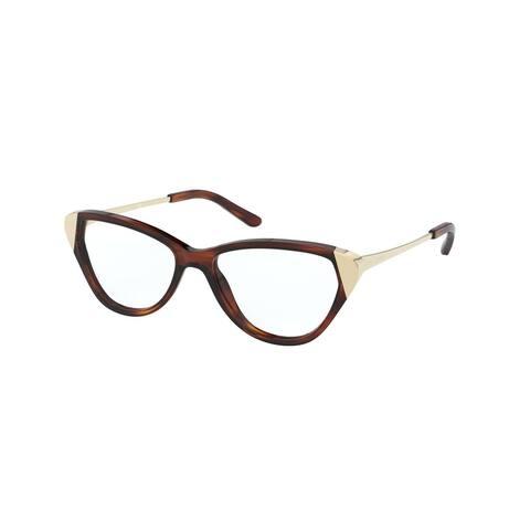 Ralph Lauren RL6191 5007 53 Stripped Havana Womens Cat Eye Eyeglasses - Stripped Tortoise