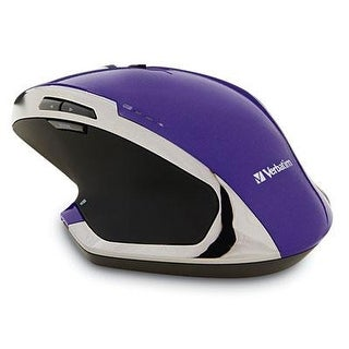 Verbatim Wireless Desktop 8-Button Deluxe Blue Led Mouse, Purple 99020