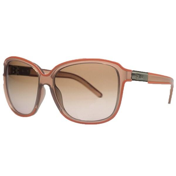 274c6a586b Shop CHLOE CL623 S 601 Square Rose Orange Sunglasses - On Sale ...