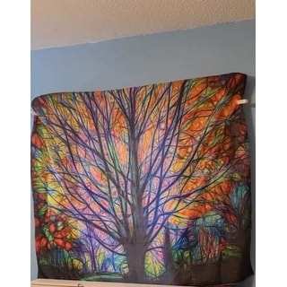 Fashion Tapestry Colorful Tree Tapestry Wall Hanging Psychedelic Forest Mandala Hippie Wall Tapestry Bedroom Living Room Dorm