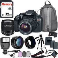 Canon Rebel T6 DSLR Camera & 18-55mm Lens Travel Kit