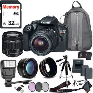 Canon Rebel T6 DSLR Camera & 18-55mm Lens Travel Kit