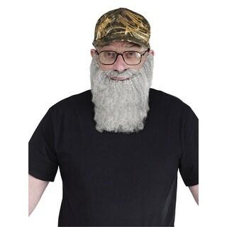 Crazy Quackers Gray Beard And Hat TV Costume Beard