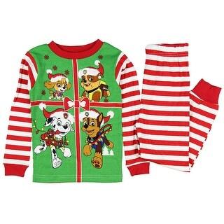 Paw Patrol Little Boys Toddler Christmas Cotton Pajama Set