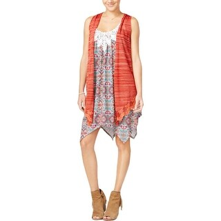 Belle du Jour Womens Juniors Dress With Cardigan Sleeveless 2PC