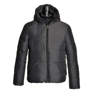 Buffalo by David Bitton Gray Quilted Puffer Jacket X-Large Hoodie Jovy