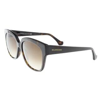Balenciaga BA0015/S 52F Brown Square Sunglasses - 59-17-140