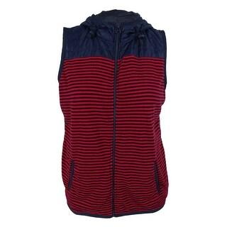 Tommy Hilfiger Women's Hooded Striped Vest & Bag Set