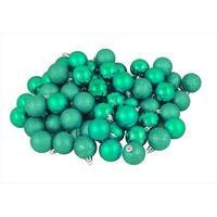 1.5 in. Seafoam Green Shatterproof 4-Finish Christmas Ball