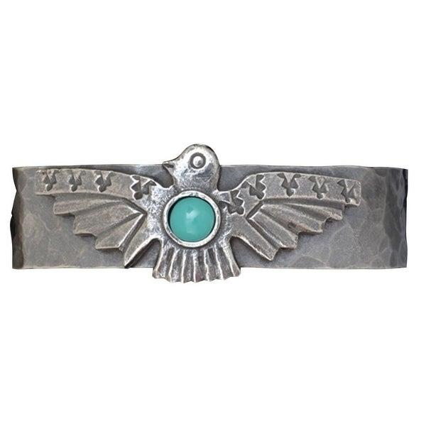 LoulaBelle Western Jewelry Women Bracelet Thunderbird Silver LLB9023TQ - silver turquoise