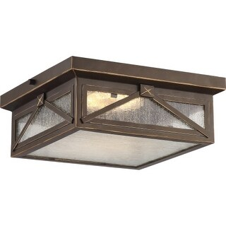 """Nuvo Lighting 62/813 Signal Single Light 11-3/4"""" Wide Integrated LED Outdoor Flush Mount Ceiling Fixture"""