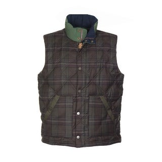 Tommy Hilfiger Meriden Premium Down Fill Vest Large XL Extra Large Brown Plaid
