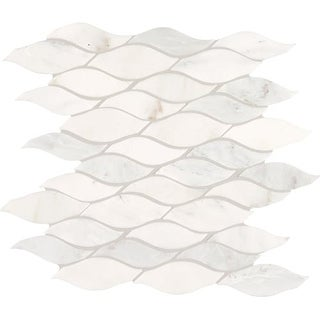 Daltile MWAVEMSL Marble Collection - Random Wave Mosaic Multi-Surface Tile - Pol