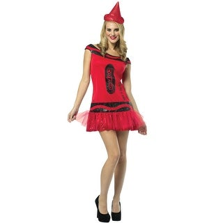Rasta Imposta Crayola Glitz and Glitter Big Dip O Ruby Dress Adult Costume - Solid - 4-10