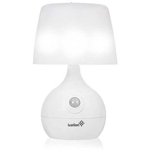 Ivation 12 Led Battery Operated Motion Sensing Table Lamp Dual Color Range