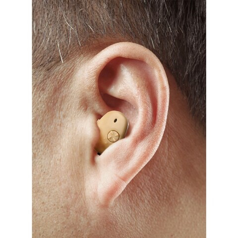 High Definition In-Ear Hearing Aid - 2 pack - brown