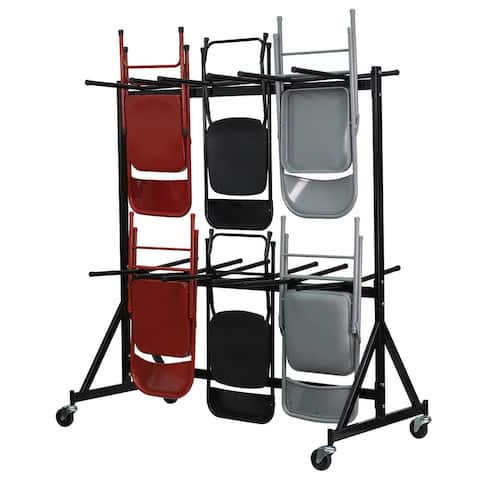 Dual Sided Hanging Folding Chair Truck with Welded Steel Frame