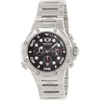 Precimax Men's Guardian Pro PX14002 Silver Stainless-Steel Plated Dress Watch