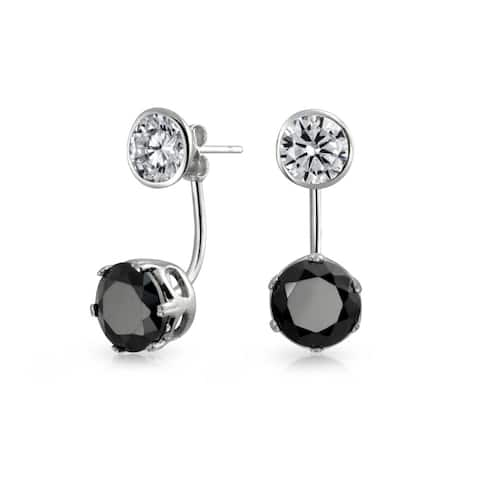 56d4a4713b3ab Buy Black Cubic Zirconia Earrings Online at Overstock | Our Best ...