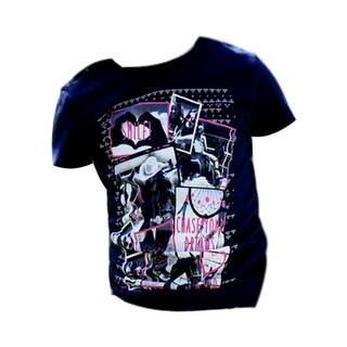 Cruel Girl Western Shirt Girls Kids S/S Tee Jersey Navy CTT3851004