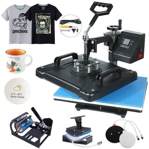 "NewAge 5 in 1 Heat Press Machine Digital Transfer Sublimation T-Shirt Mug Hat 12""x10"" - 12 x 15"