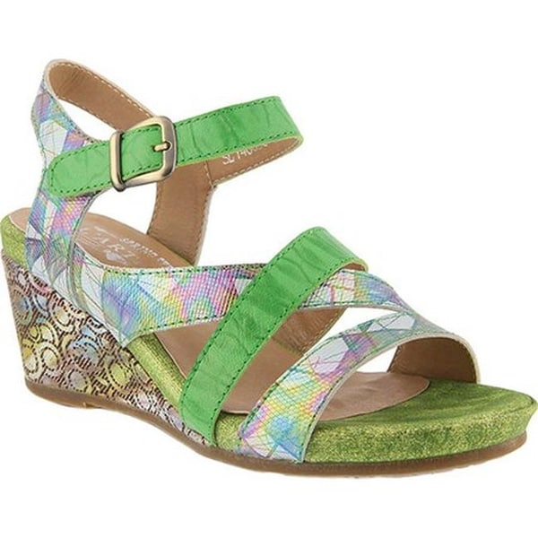 d9fcad048c1 Shop L'Artiste by Spring Step Women's Leanna Strappy Sandal Green ...