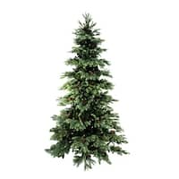 7' Pre-Lit New England Pine Medium Artificial Christmas Tree with Pine Cones - Clear Lights