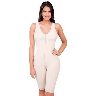 Full Body Powernet Butt Lifter Shaper Post-Surgery Postpartum Girdle with Bra Fajas Colombianas Nude 606 by Fiorella Shapewear
