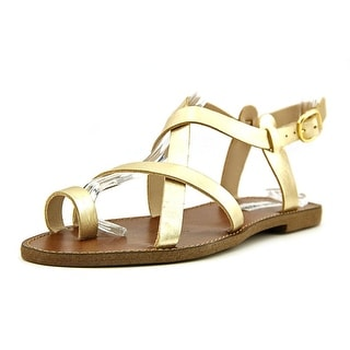 Steve Madden Agathist Open-Toe Leather Slingback Sandal