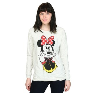 Womens Minnie Mouse Sweet Sit French Terry Pullover - M
