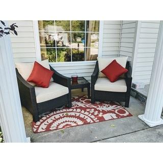 Nina Contemporary Floral Indoor/Outdoor Area Rug