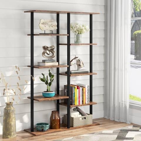 Tribesigns Industrial Ladder Bookshelf Bookcase Open Book Shelves