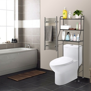 Bathroom Space Saver Over The Toilet Rack Shelf Corner Stand Storage Organizer
