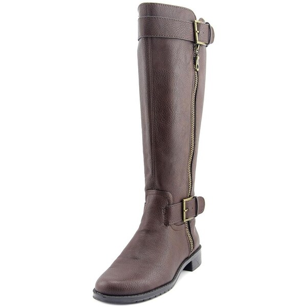Aerosoles Ride Around Wide Calf Women Round Toe Synthetic Brown Knee High Boot