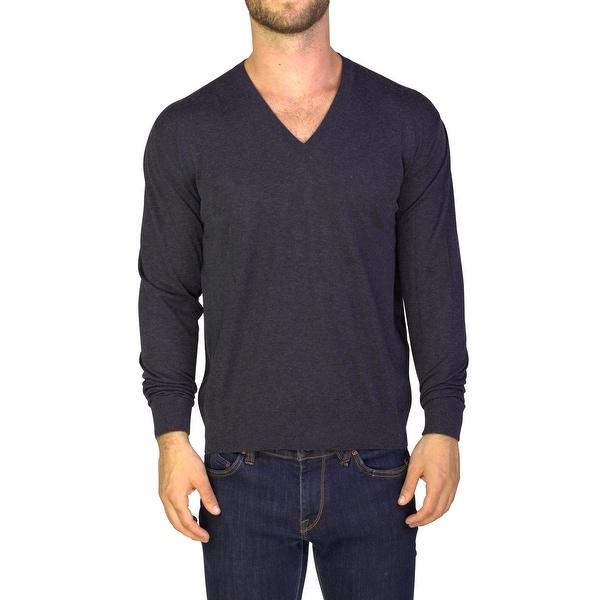 374917601818 Shop Prada Men s Cotton Cashmere Blend Crewneck Sweater Grey - Free ...