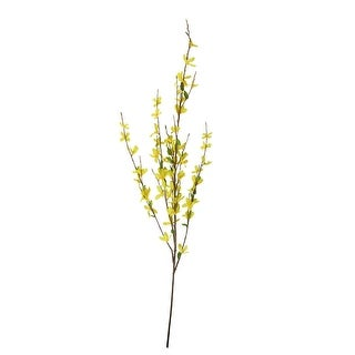 "38"" Decorative Yellow Artificial Forsythia Inspired Floral Spray - Green"