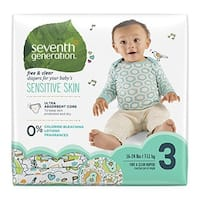 Seventh Generation Free & Clear Sensitive Skin Baby Diapers - Assorted (Solid or Print) - Size 3 - 31 ct