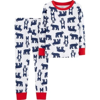 Carter's Boys' 2 Piece Snug Fit Cotton Pajama Set