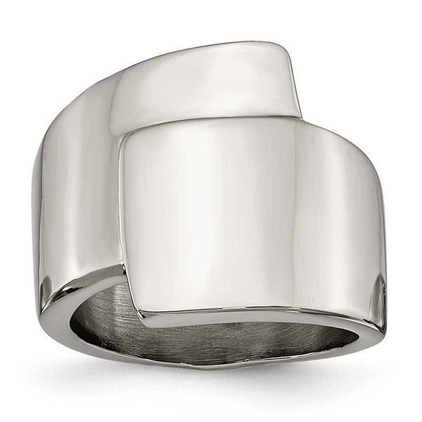Chisel Stainless Steel Polished Fancy Ring