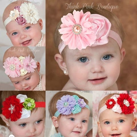 Baby Girl's Flower Hair Headbands