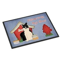 Carolines Treasures BB2783JMAT Dog House Collection Russo-European Laika Spitz Indoor or Outdoor Mat 24 x 0.25 x 36 in.