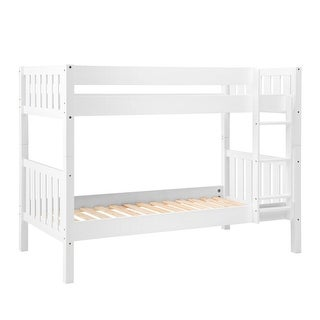Offex Solid Wood Cottage Slat Bunk Bed - White